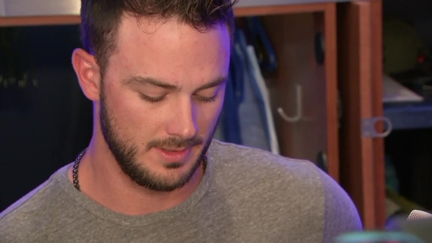 Kris Bryant Reacts to First Career Ejection