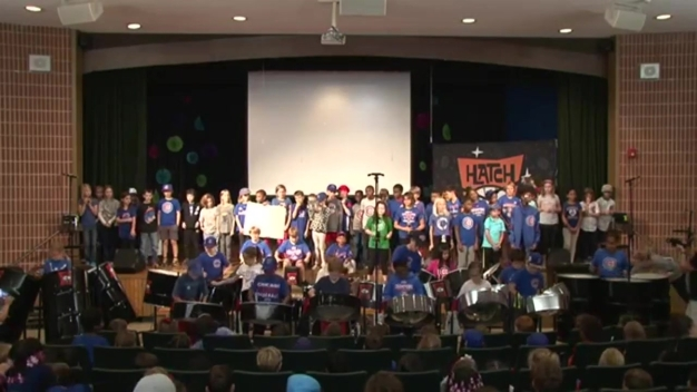 School Band Shows Cubs Support With Amazing Performance