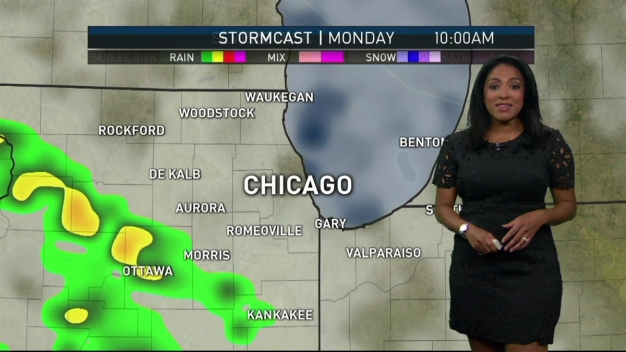 Rainy Weather Moves Into Forecast Monday
