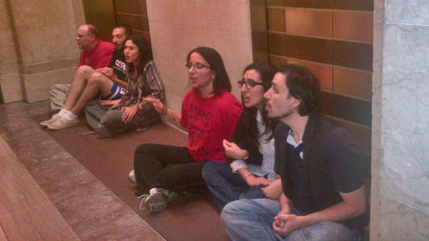 School Closure Opponents Arrested at City Hall Demonstration