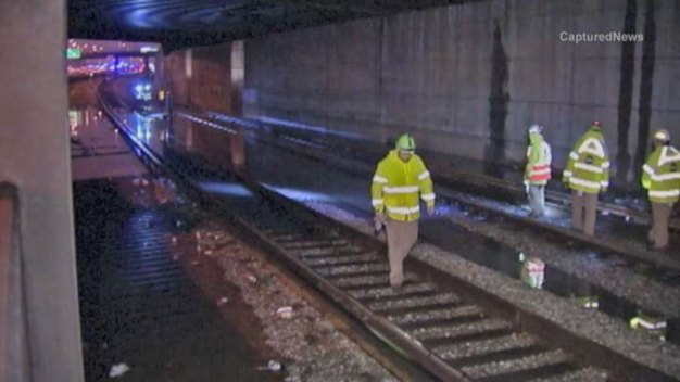 Flooding Causes Problems on Interstates, CTA Lines