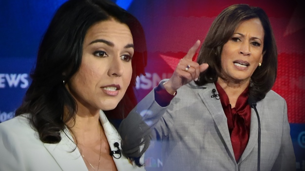 Harris Says Gabbard 'Buddied Up to Steve Bannon'
