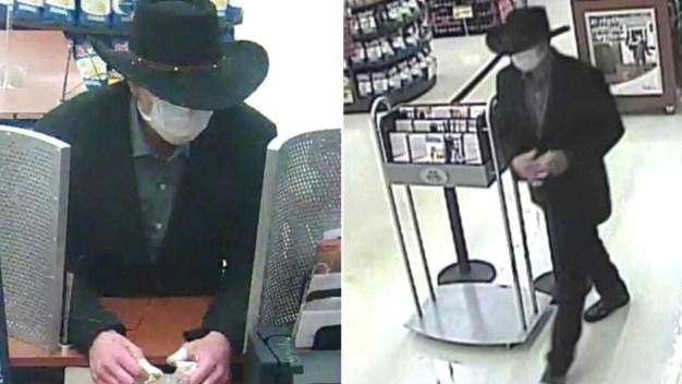 Man Wearing Cowboy Hat, Surgical Mask Robs Suburban Bank