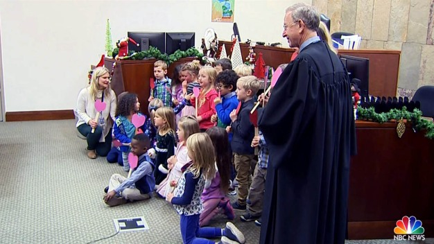 Mich. Kindergartners Join Classmate for His Adoption Hearing}