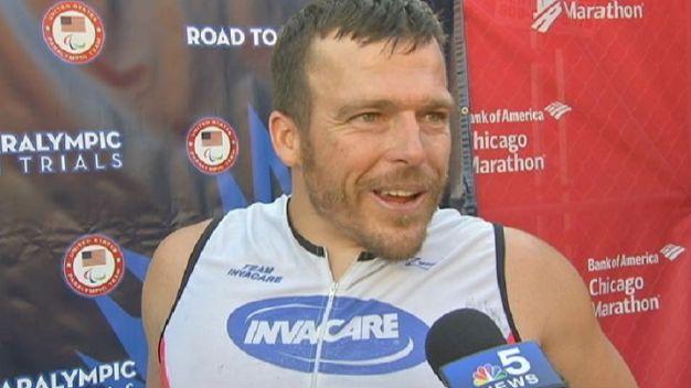 Fearnley Wins Men's Wheelchair Race in 2015 Chicago Marathon