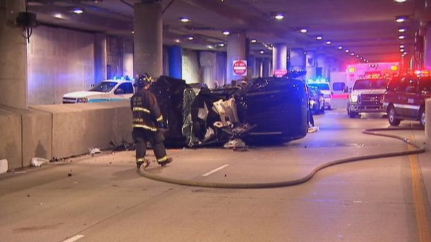 4 Kids, 1 Adult Hurt in Lower Wacker Drive Crash