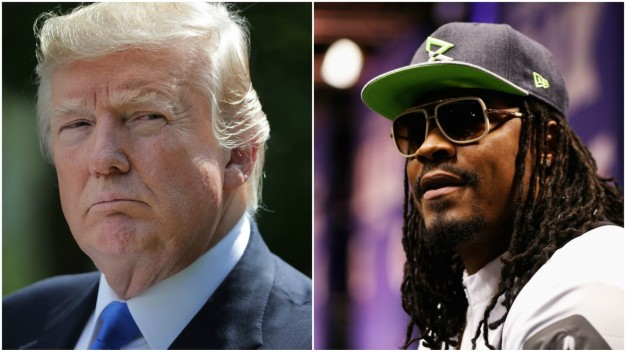 Trump Slams Marshawn Lynch for Anthem Protest in Mexico