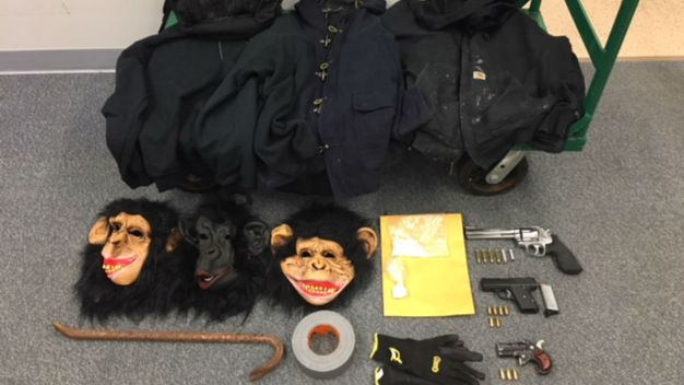 Coke, Guns, Monkey Masks: Trio Was on a Mission, Cops Say