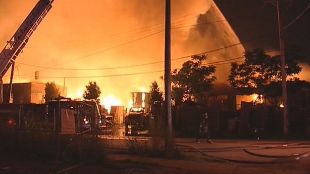 Little Village Fire Destroys Pallet Business