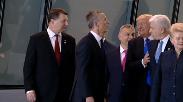 Watch: Trump Appears to Push Aside Montenegro PM