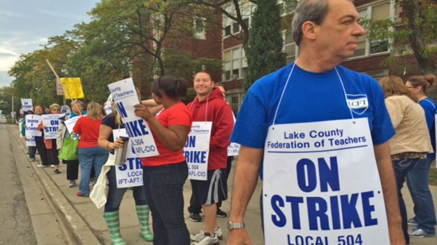 Waukegan Schools Closed as Teachers Strike