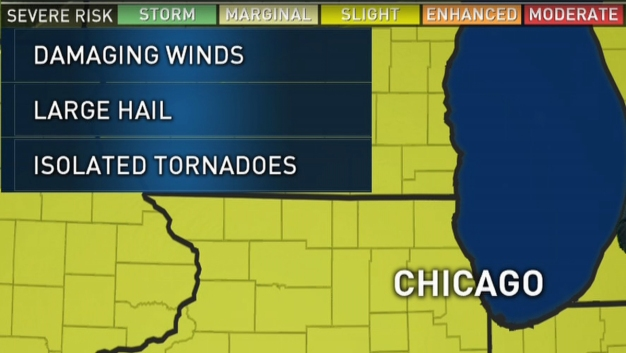 Timing: A Look at When Severe Storms Could Hit Chicago Area