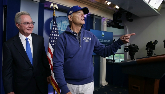 We Can't Stop Laughing at These Photos of Bill Murray in the White House