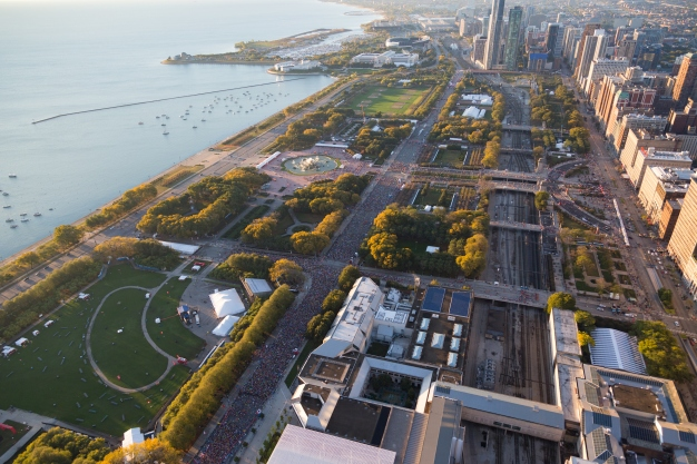 See What the Chicago Marathon Looks Like From the Sky
