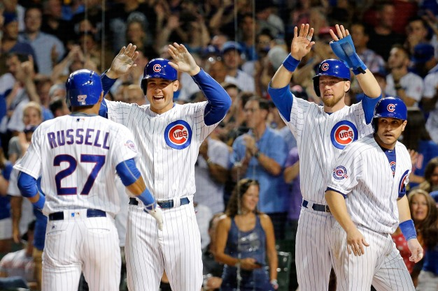 Baez Hits 2-Run HR, Russell Adds Slam as Cubs Beat Sox 8-1