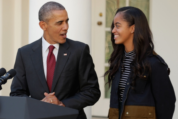Obamas Announce Daughter Malia's College Decision