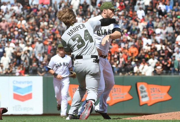 Basebrawl! Harper, Strickland Punch Away