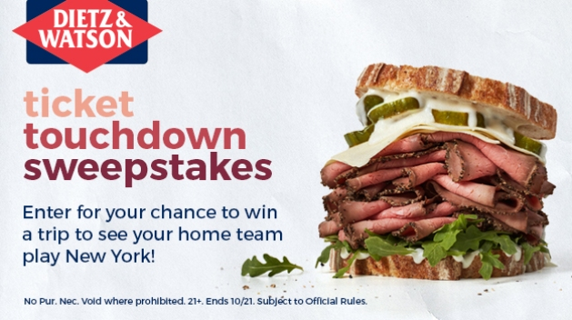 Dietz & Watson Ticket Touchdown Sweepstakes