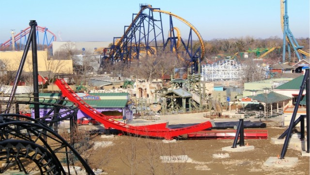 Six Flags' New Coaster Under Construction