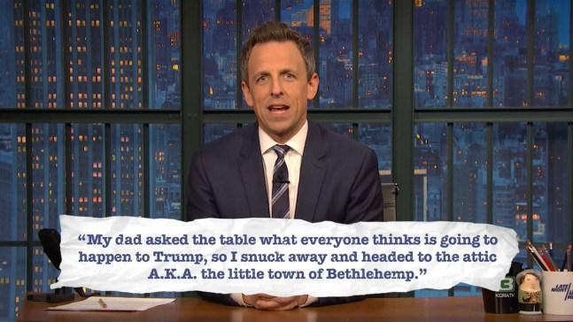 'Late Night': Seth Explains Teen Slang, Holiday Edition