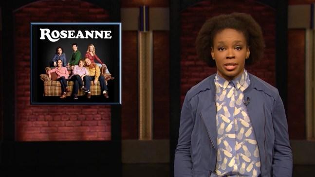 'Late Night': Amber's Rant on 'Roseanne,' Racist People
