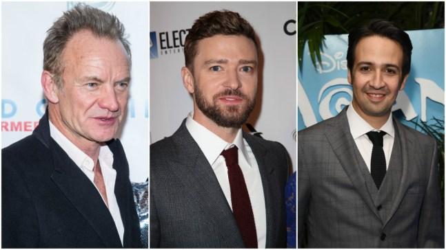 Lin-Manuel Miranda, Timberlake, Sting Snag Oscar Music Noms