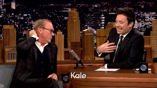 'Tonight Show': Rhyme-Versation With Michael Keaton