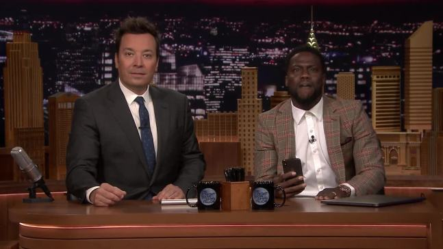 'Tonight': Kevin Hart FaceTimes Dwayne Johnson While Co-Hosting