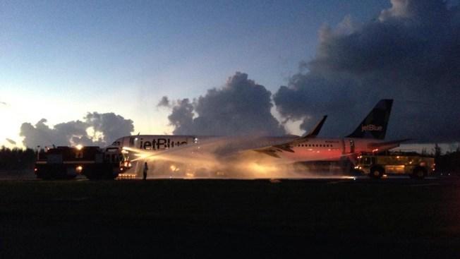 NY-Bound JetBlue Flight Evacuated After Engine Fire