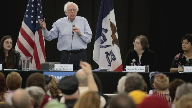 Bernie Sanders Finds Himself in a New Role: Front-Runner