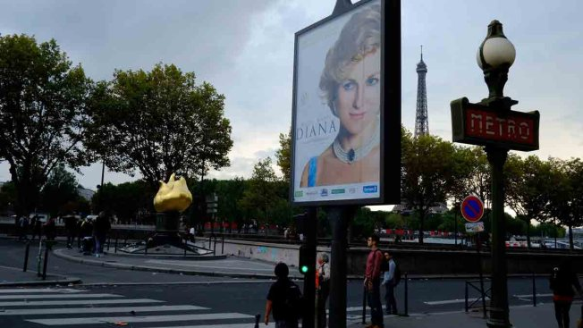 """Diana"" Poster Taken Down From Paris Tunnel Where Princess Diana Died"