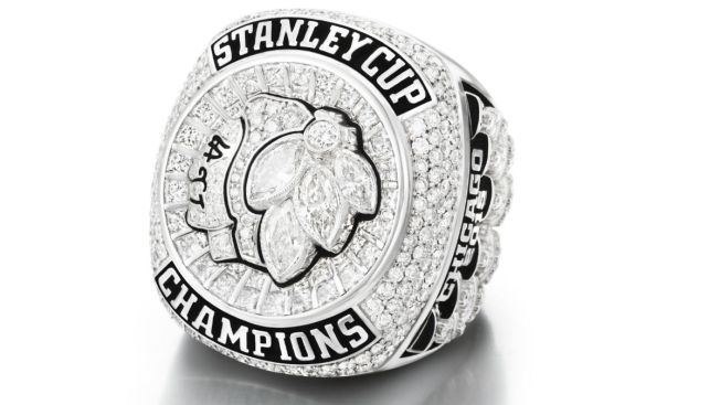 Blackhawks Receive Stanley Cup Championship Rings Studded With 355 Diamonds