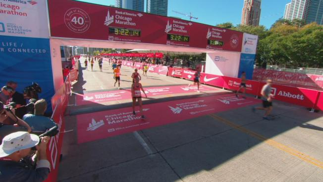 Watch: 2017 Bank of America Chicago Marathon Finish Line