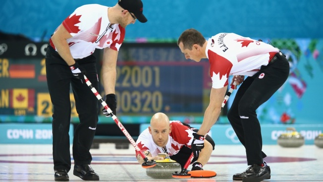 Canada Wins Opener in Curling Title Defense