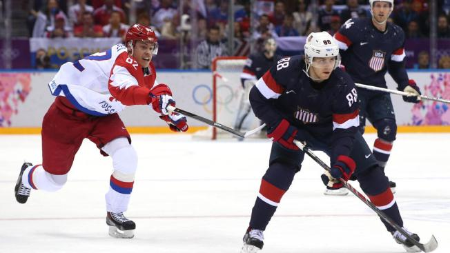 Blackhawks at the Olympics: Kane Stellar as U.S. Wins