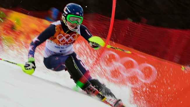 U.S. Teen Shiffrin Leads 1st Run of Olympic Slalom