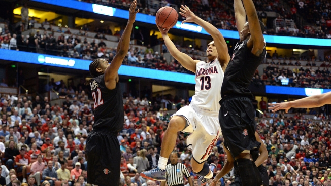 Arizona Holds Off San Diego State 70-64 in NCAAs