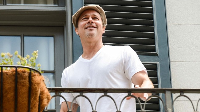 Brad Pitt Throws Matthew McConaughey a Beer From His Balcony in New Orleans