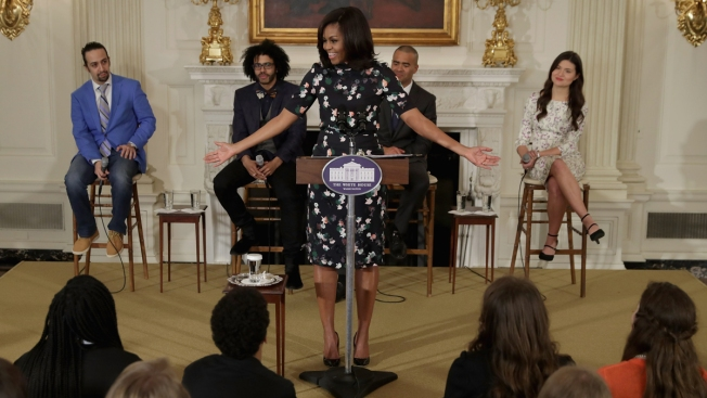 'One Hot Ticket': 'Hamilton' Cast Performs at White House