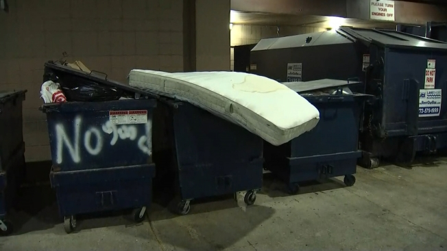 Mattress Falls From Building in West Loop
