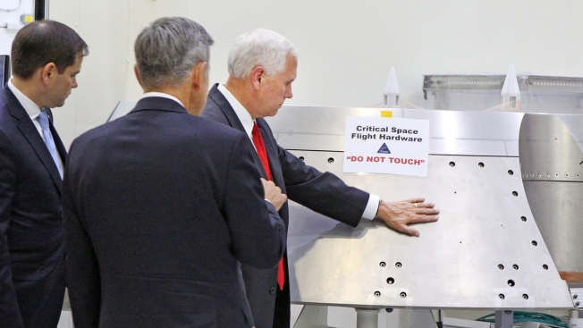 NASA Says Pence Was OK to Touch Hardware Despite Sign