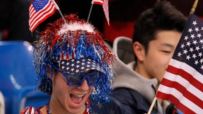"Jason Brown ""Most Patriotic Man"" in Sochi"