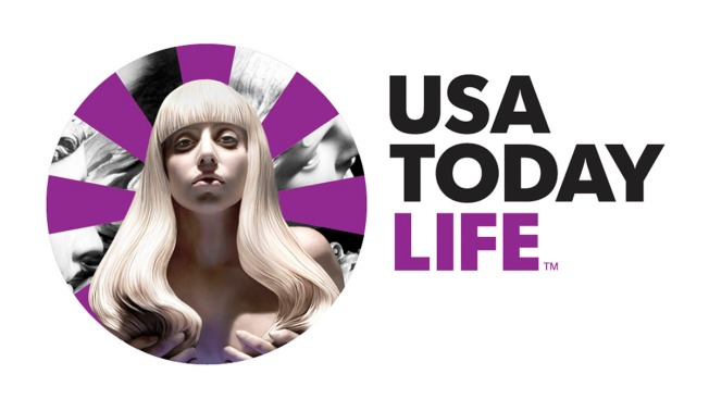 Lady Gaga Lends Image to USA Today Logo