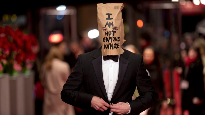 Shia LaBeouf Walks Out of Press Conference, Poses With Bag Over His Head