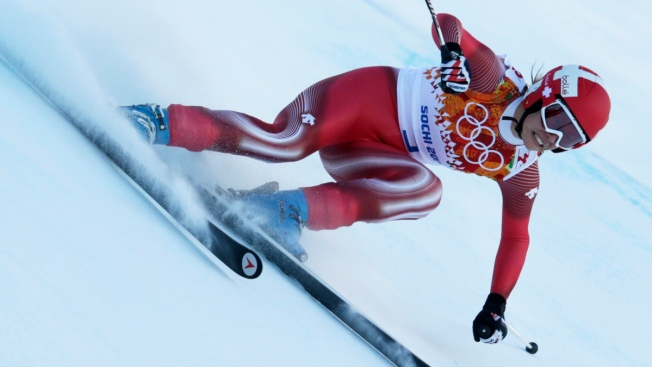 Swiss Skier Gisin Leads Women's Downhill Training