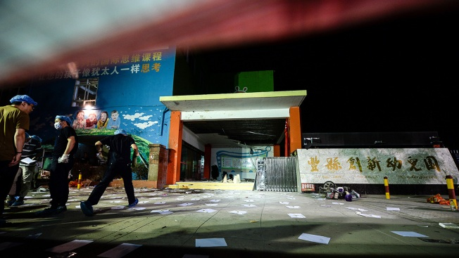 China kindergarten blast suspected crime; 8 dead