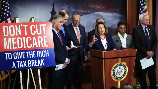 Dems Seize on Report That GOP Tax Cuts Match Entitlement Cuts