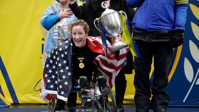 Chicago's Elite Wheelchair Athlete Wins Race in 2018 Boston Marathon