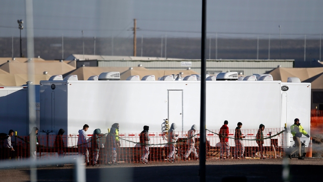 Thousands of Migrant Kids Being Held in Mass Shelters, Data Shows