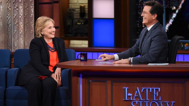 Hillary Rodham Clinton Pays a 'Late Show' Campaign Call
